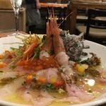 大衆ワイン酒場バルバル - 朝決め!!鮮魚盛り カルパッチョ ちょっとオイリーすぎるかな