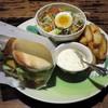 熱帯食堂 - 料理写真:熱帯エビバーガーSet(税別\900)