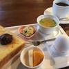 廣野珈琲館 - 料理写真:ブレンドコーヒー370円と小倉トーストのモーニング