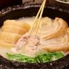 鶏だしおでん さもん - 料理写真:大根、ロールキャベツ、特選鶏串せせり、もも、車麩、水菜