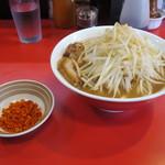 千里眼 - ラーメン 小 730円 麺少なめ/辛揚げ 無料 (別盛り)