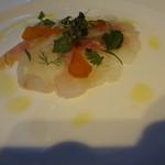 オザミ・デ・ヴァン - 前菜:鯛のカルパッチョ