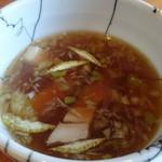 エンターテイ麺ト スタイル ジャンク ストーリー エムアイ レーベル - つけ汁、スープ割もあり
