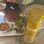 ビア ホイ チョップ - Bセット生春巻きと蓮茶