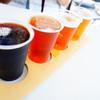 サンクトガーレン有限会社 - ドリンク写真:4種飲み比べ 手前からスゥイートバニラスタウト、アップルシナモンエール、ジンジャーIPA、ゴールデンエール
