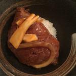 SATO ブリアン - 松茸とヒレのすき焼きご飯
