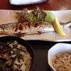 和・ふじ - 料理写真:日替り定食 さんま塩焼き@900