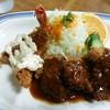 たつ - 料理写真:ヒレカツ・エビ定食1700円(税込み)ご飯・味噌汁・漬物つき。