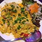 ヤムヤムサイアム - カニのふんわり卵カレー炒め