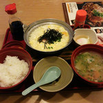 ジョイフル - 料理写真:豚汁朝食&たっぷり玉子の鮭雑炊