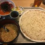 58075499 - 稲庭うどん七蔵特製スープつけ麺+ミニ丼のセット小(1100円)