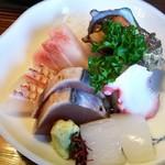 富田屋 - 1610 富田屋 刺身定食@1,080円 たこ、いか、ぶり、鯛、貝