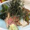 一富 - 料理写真:お店名物の鯖ごま。 博多で一般的に言う『ゴマサバ』じゃなくて、こちらでは『サバゴマ』という呼び方をしてます。