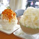 雪うさぎ - 料理写真:秋色かぼちゃあキャラメル&贅沢まるごとメロン