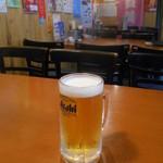 鯨の登美粋 - まずは生ビール