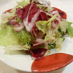 平成オペラ座 - お通し 水菜、キャベツ、トレピス、サラダ菜