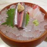 平成オペラ座 - 秋刀魚と鯛の刺身