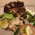 Oberujutosayama - 料理写真:鰹炙り造り