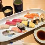 築地寿司清 - 得盛 1458円