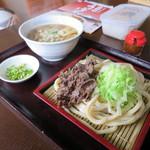 麗乃 - 料理写真:肉つけうどん450円(内税)。