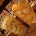 58172933 - 生レモンサワー(メガジョッキ);右は同行サンのメイヤーレモンver.デス @2016/10/29