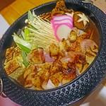 58207625 - 桜島鶏の味噌すき鍋  1580円
