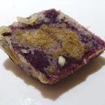 カウンターお野菜天ぷら mego - 京都の紫イモ
