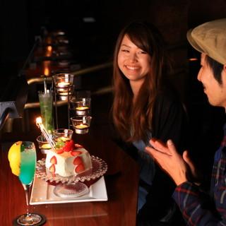 ■煌く夜景とケーキで大人の記念日を♪