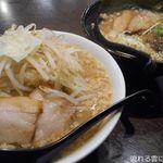 G麺 ふじもり  - ふじもりラーメン小&こってり魚介豚骨ラーメン