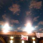 青空 - 天井にはモンゴルの青空が^^