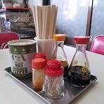 大鵬軒 - 料理写真:卓上アイテムを見るとメニューがわかる相対的理論