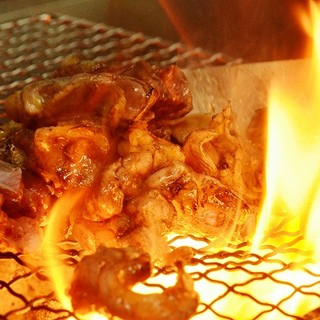 地鶏の炭火焼♪
