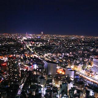 地上200mの夜景を堪能。特別な日に素敵な思い出を