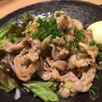 魚・オイルしゃぶしゃぶ 和達 - 上州せせらぎポークの生姜焼き850円