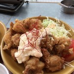 Cafe&Diner カリフォルニアカフェ - から揚げランチ(10個) 800円  ドリンク200円引き