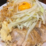 ラーメン二郎 - 料理写真:690円『小ラーメン』+80円『汁無し』(ニンニク野菜マシ)2016年11月吉日