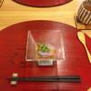 御料理 かわばた - 料理写真:★★★☆ 紫芋のゼリー餡かけ ほんのり甘い紫芋に和風だしの餡 彩り美し、味もよし