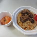 天神炒飯 - 私は中華風炒飯をベースに餡かけ、トッピングも合わせ1100円の炒飯を作って貰いました。