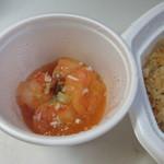 天神炒飯 - 餡かけは中華風にしたんでエビチリ250円を選んでみました。