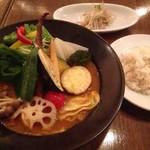 スープカレー食堂 ROCKETS - とろとろポークと旬野菜20品目のスープカレー