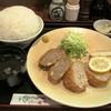 レストラン かつみ - 料理写真:鶏・豚・牛の3種のメンチカツ定食(ライス大盛)