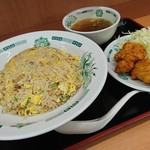 日高屋 - 料理写真:チャーハンから揚げセット