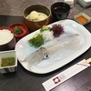 海中魚処 萬坊 - 料理写真:「いかコース (2860円)」♪ いか活き造りの透明感が最高ですね♪