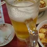 58318539 - 飲み放題の生ビール。あ、ずいぶん飲んじゃった。