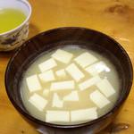 Tonkatsumampei - この豆腐味噌汁も旨し