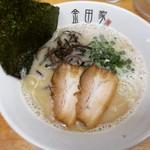 金田家 - 黒豚ラーメン650円