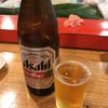相撲寿司大砲部屋 - ドリンク写真:ビールは瓶が合うね