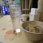 桐のや水産 - 焼酎の水割り+もつ煮_2016/11