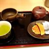 山本山 - 料理写真:煎茶とおせんべいのセット