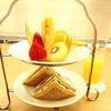 京橋千疋屋フルーツパーラー - 料理写真:モーニングティーセット(フルーツサンド)、本日のジュース(リンゴジュース)